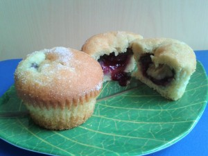 how to make jam doughnut muffins recipe (2)