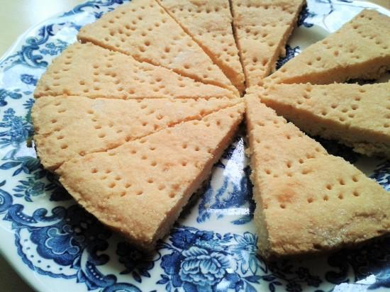 Recipe for lemon shortbread wedges