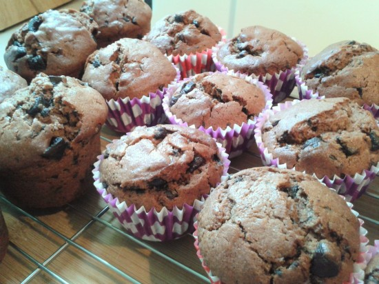 recipe-double-chocolate-muffins-freshly-baked-cooling