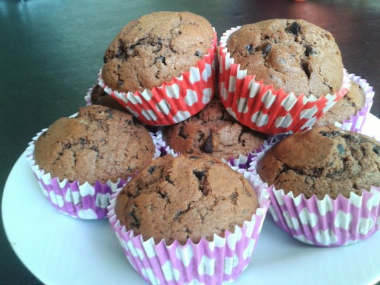 recipe-double-chocolate-muffins-in-colourful-cases