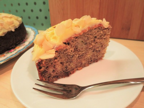 banana-cake-recipe-with-buttercream-icing-sliced
