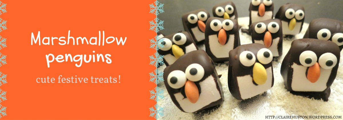 Recipe | Chocolate marshmallow penguins - cute winter treats!