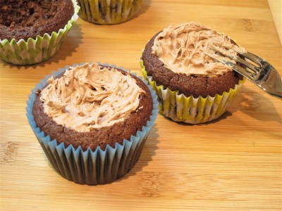 Chocolate nest cupcakes with chocolate buttercream