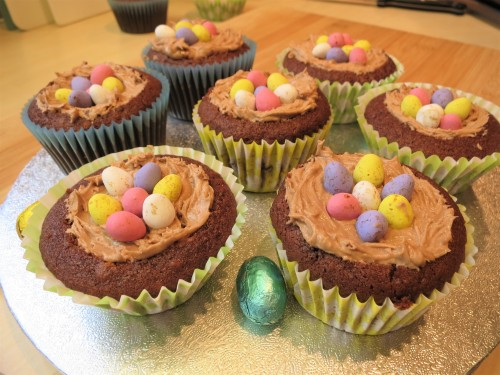 How to bake Chocolate nest cupcakes recipe UK