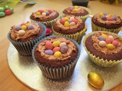 How to make Chocolate nest cupcakes Easter recipe UK