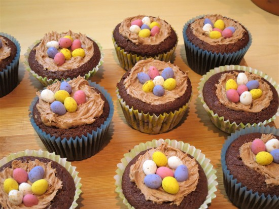 How to make Chocolate nest cupcakes recipe UK