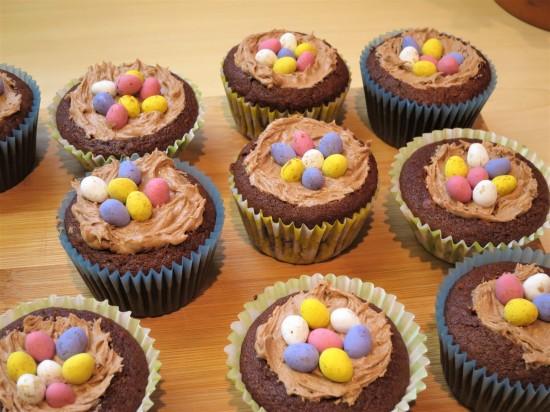 How to make Chocolate nest cupcakes recipe UK