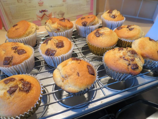 After Eight mint chocolate muffins recipe uk freshly baked cooling