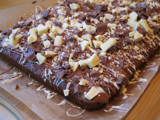 Chewy chocolate oat square flapjack cake recipe baking with kids uk