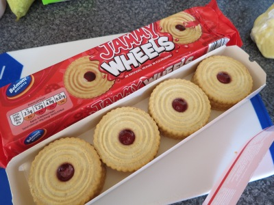 Jammy Dodgers jammy shortbread biscuits for tray bake recipe