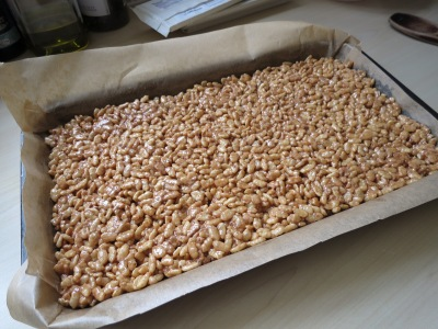Mars bar and rice krispie cake bars uk tray bake recipe