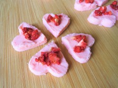 UK white chocolate strawberry heart shaped truffles easy recipe