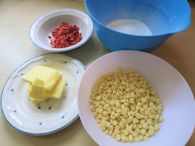 White chocolate strawberry heart truffles UK ingredients