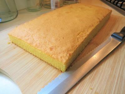 Orange sweetie tray bake cake easy uk recipe icing