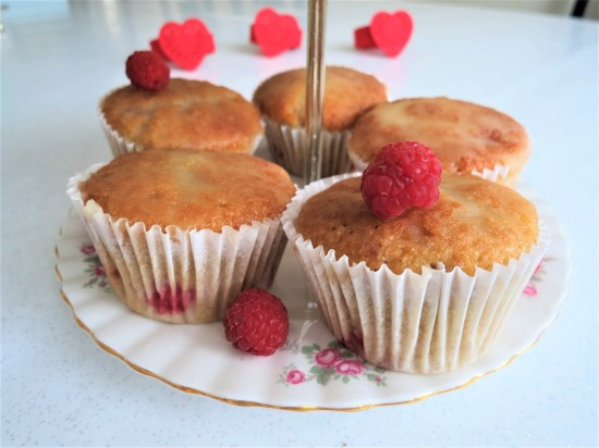 Easy fresh raspberry cupcakes with orange drizzle recipe