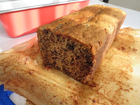 banana and chocolate chip load cake uk recipe easy sliced