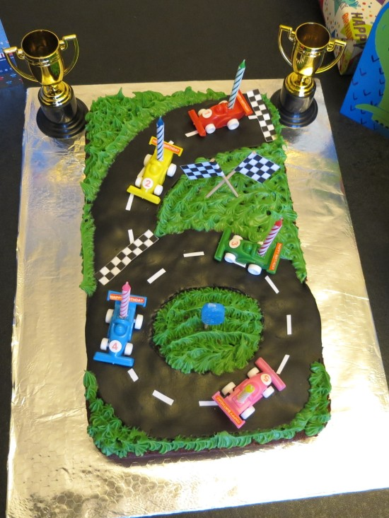 How to make easy race car race track circuit birthday cake uk