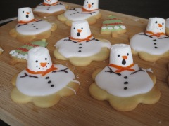 Recipe melted snowman biscuits easy festive Christmas cookies uk baking with kids