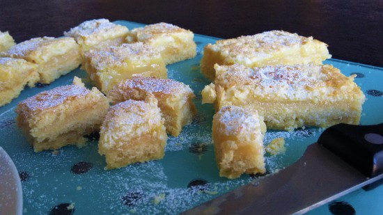 Lemon bars lemon squares tray bake recipe uk