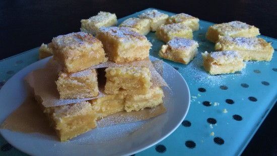 Lemon bars tray bake easy recipe uk