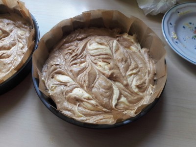 Easy Cappuccino swirl layer cake with caramel buttercream recipe uk