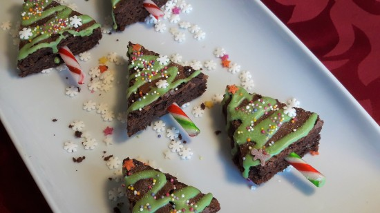 Quick and easy Christmas baking recipe uk Christmas tree brownies