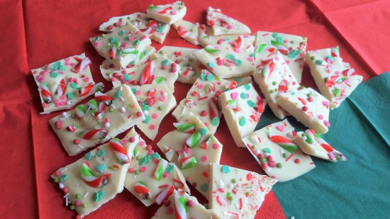 Simple white chocolate Christmas bark recipe uk