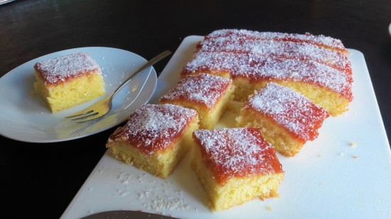 Classic old school jam and coconut sponge cake easy uk recipe