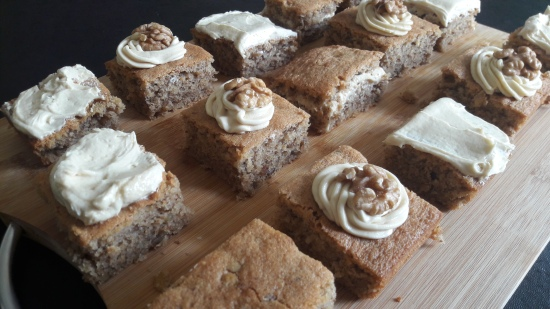 Coffee and walnut traybake tray bake with coffee buttercream espresso cake easy uk recipe