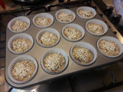 Banana, raisin, oat and honey muffins easy breakfast muffin recipe uk
