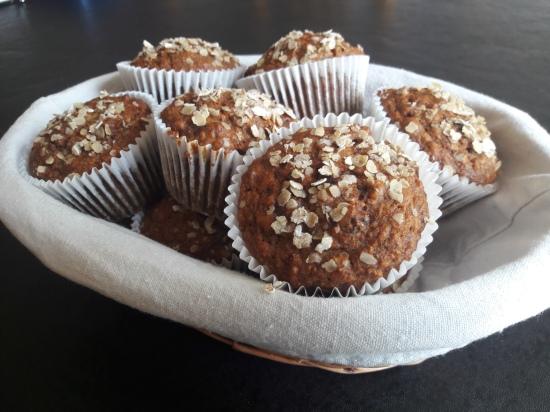 Banana, raisin, oat and honey muffins easy quick breakfast muffin recipe uk