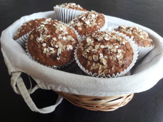 Banana, raisin, oat and honey muffins quick recipe breakfast muffins simple recipe uk