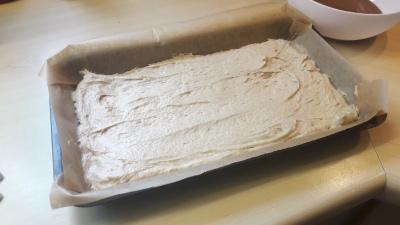 Nutella and cinammon cake quick recipe third of mixture in tin uk