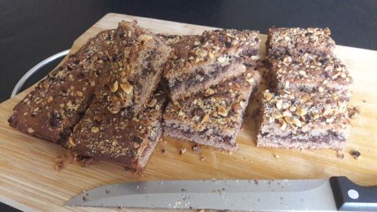 Nutella and cinnamon cake quick recipe uk sliced