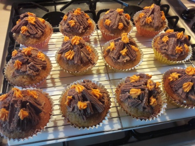 Bonfire night guy fawkes' easy cupcakes recipe uk