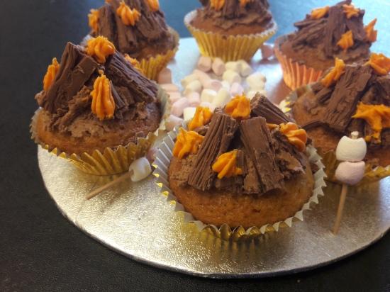 吉姆·贝克的巧克力蛋糕,巧克力蛋糕和蛋糕的小蛋糕