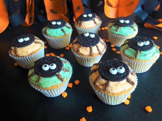 Halloween cute oreo spider muffins cupcakes easy uk recipe cute baking