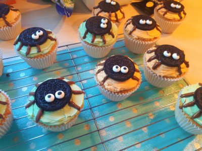 Halloween cute oreo spider muffins easy bake uk