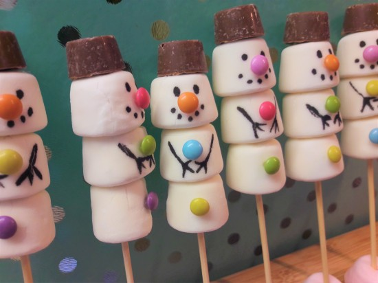 Easy marshmallow snowmen recipe UK baking with kids