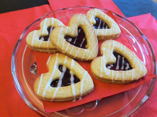 Quick recipe Two layer heart biscuits dodger with jam centre easy recipe UK