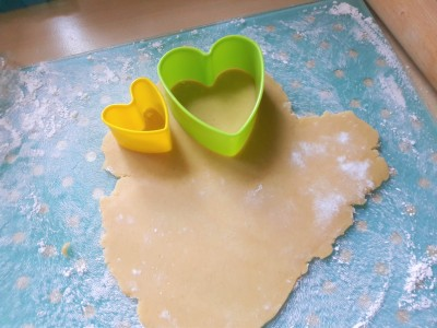 Two layer heart biscuits dodger with jam centre easy recipe UK