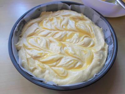 Easy recipe lemon curd swirl sponge cake uk