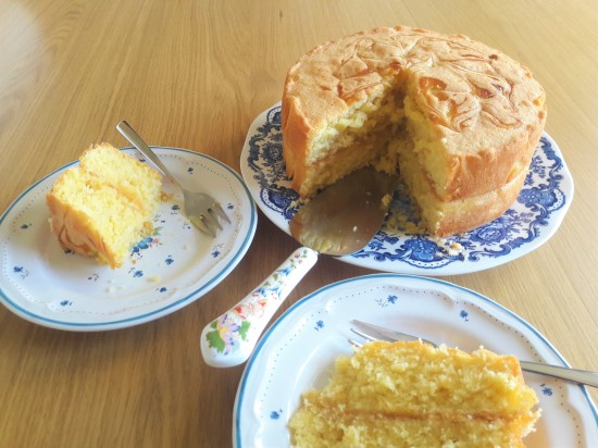 Easy recipe lemon curd swirl sponge layer cake uk