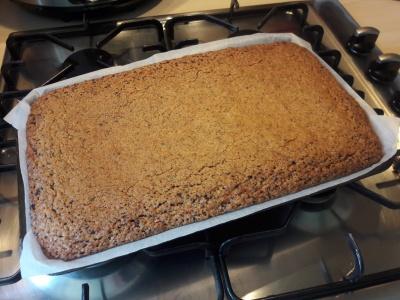 Recipe coffee sponge cake traybake with cappuccino buttercream uk