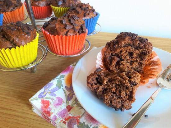 Chocolate peanut butter and choc chip chunk muffins recipe uk quick
