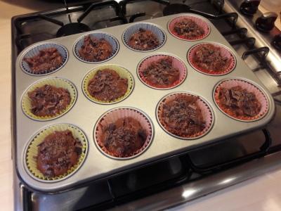 Chocolate peanut butter and choc chip chunk muffins recipe uk